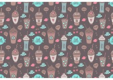 Free vector Free Colorful Iced Coffee Seamless Pattern Vector #22500