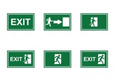 Free vector Free Emergency Exit Sign Vector #25592