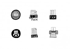Free vector Free Fax Icon Vector Series #24613