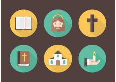 Free vector Free Flat Christianity Vector Icons #22791