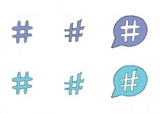Free vector Free Hashtag Vector Series #23384