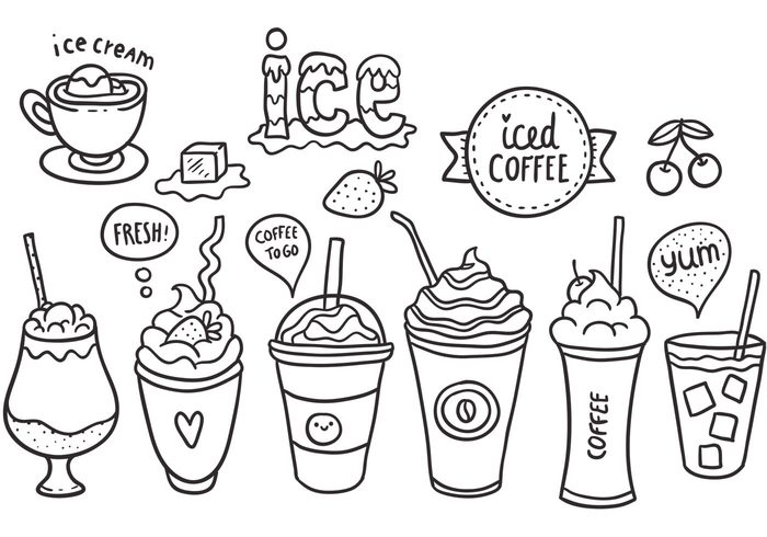 Free Vector Iced Coffee Pack 22482