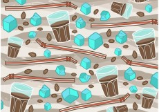 Free vector Free Iced Coffee Vector Pattern #23752