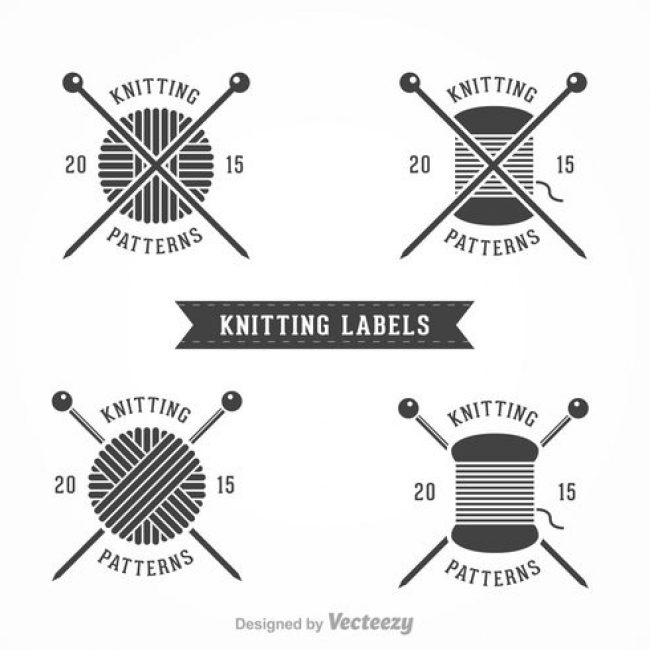 Knitting Labels Free : Free vector knitting labels my