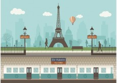 Free vector Free Paris Underground With Cityscape Vector #21693