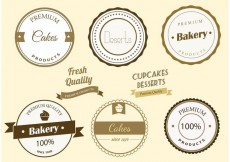 Free vector Free Vector Bakery Labels #27366