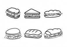Free vector Free Vector Club Sandwiches #28075