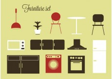 Free vector Free vector furniture and home accessories #23605