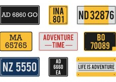 Free vector Free Vector License Plates #22932