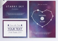 Free vector Galactic wedding invitation #26037
