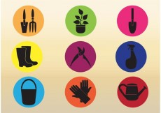 Free vector Gardening Tool Vector Icons #27590