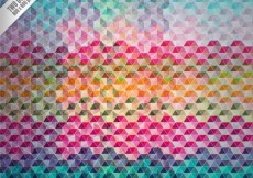 Free vector Geometric background in colorful style #20516