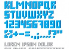 Free vector Geometrical alphabet in blue color #27359