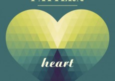 Free vector Geometrical heart in green tones #24214