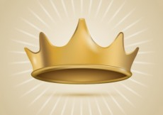 Free vector Gold crown #25683