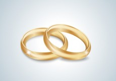 Free vector Gold wedding rings #21238