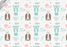Free vector Hand drawn birds pattern #25555