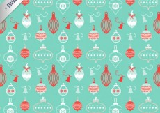 Free vector Hand drawn christmas baubles pattern #27493