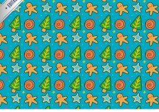 Free vector Hand drawn christmas pattern with sweets #26267