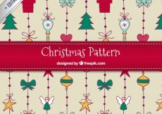Free vector Hand drawn christmas pattern #27071