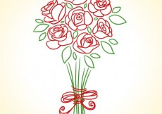 Free vector Hand drawn roses bouquet #22364