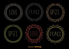 Free vector Hand drawn wreaths #20807