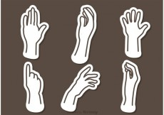Free vector Hand Outline Icons Vectors #23250