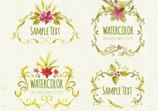Free vector Hand painted ornamental christmas frames #26886