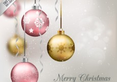 Free vector Hanging realistic baubles background #24634