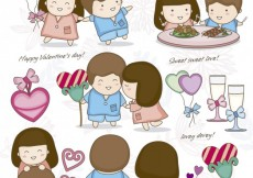Free vector Happy couple in valentines day #26507