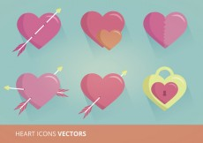 Free vector Heart Icons Vector Format #26062