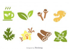 Free vector Herbal Tea Vector Icons #26408