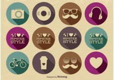 Free vector Hipster Icon Set #22665