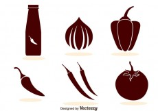 Free vector Hot Sauce Icons #24239