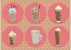 Free vector Iced Coffee Vectors #23197