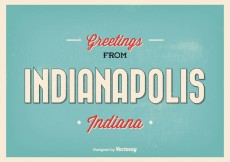 Free vector Indianapolis Retro Greeting Illustration #24471