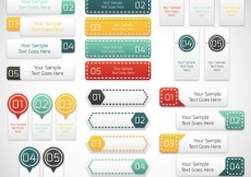 Free vector Infographic labels collection #26813