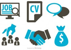 Free vector Job Business Concept Icons Vector #21629