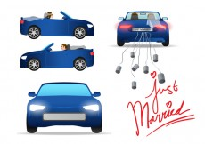 Free vector Just Married Car Vector #26889