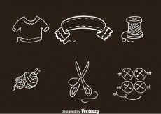 Free vector Knitting Clothes Icons Vectors #26290