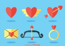 Free vector Love Flat Icons #20843