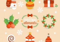 Free vector Lovely christmas elements #25166