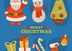Free vector Merry christmas characters #24344