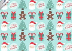 Free vector Merry Christmas Pattern #25841