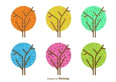 Free vector Minimal Seasonal Tree Vectors #23868