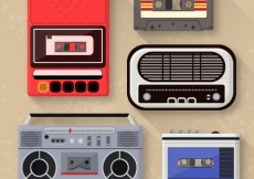 Free vector Music players collection #22334
