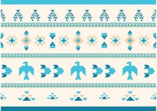 Free vector Native American Vector Pattern Eagles and Goose #23089