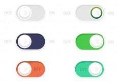 Free vector On Off Toogle Button Vectors #21969