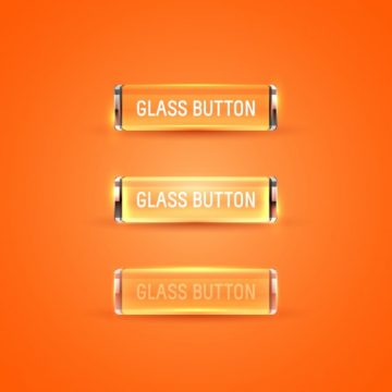 Free vector Orange glass buttons collection #25933