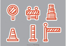 Free vector Orange Road Traffic Vectors #24055
